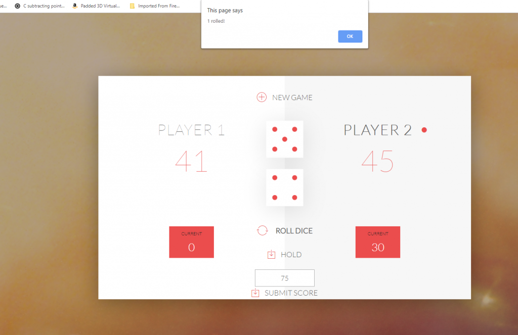 Javascript dice game! - James Kitchen Games